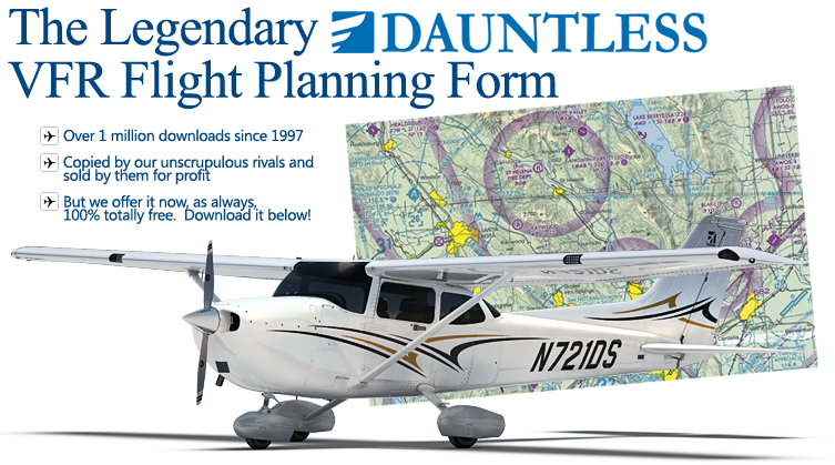 VFR NavLog (Navigation Log) and Cross Country Flight Planning Form