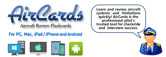 Aircards - Aircraft Systems and Limitations Review Flashcard