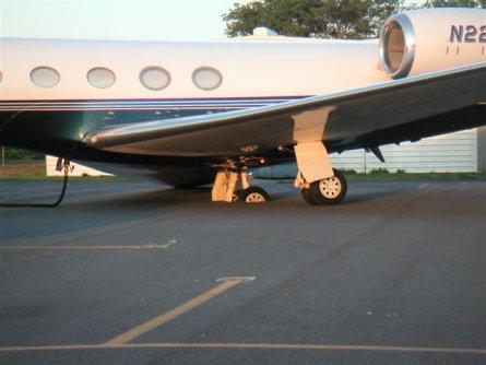 Gulfstream Sinks Into Asphalt