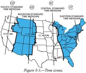 Latitude And Longitude Meridians And Parallels - Central america time zone