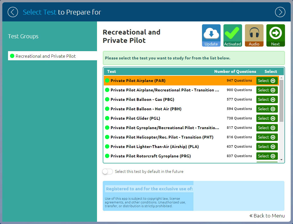 FAA Written Test Preparation - Private Pilot