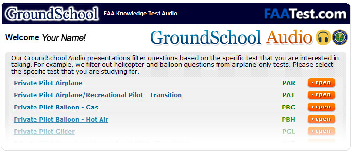 FAA Written Test Preparation Audio