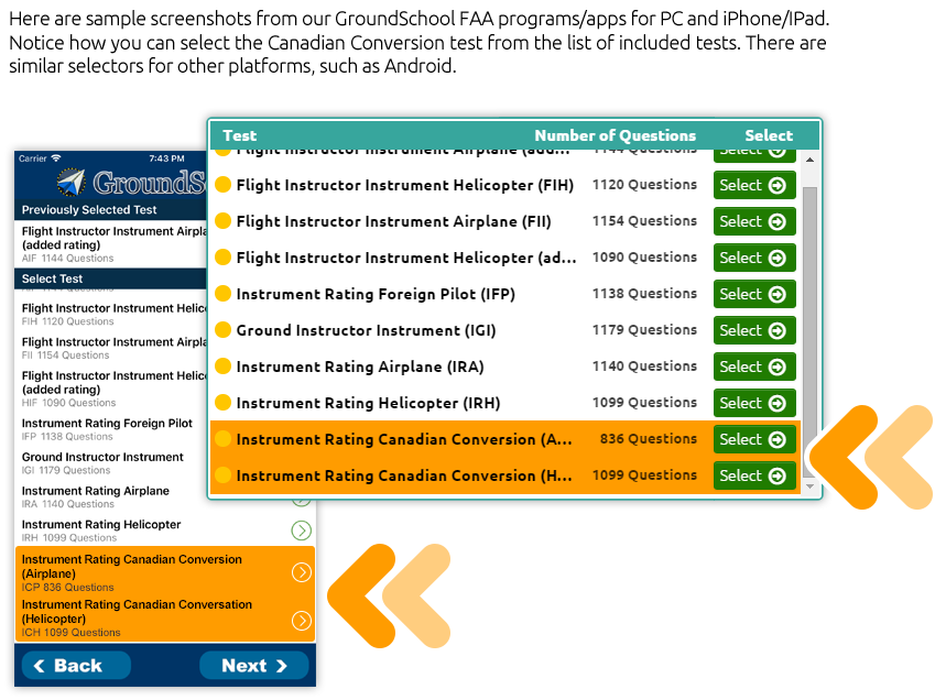 Dauntelss Aviation Canadian software / app variations