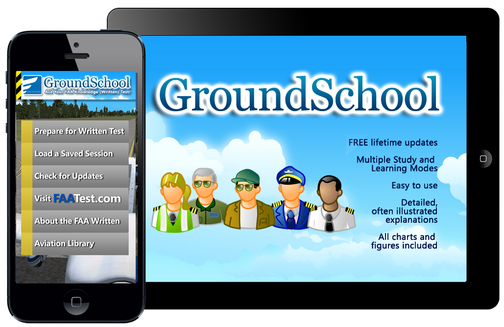 GroundSchool FAA Knowledge test Prep for iPhone