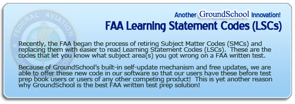 FAA Learning Center Codes