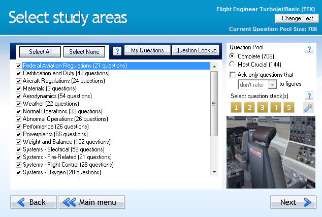 GroundSchool FLIGHTENGINEER Chapter Selection