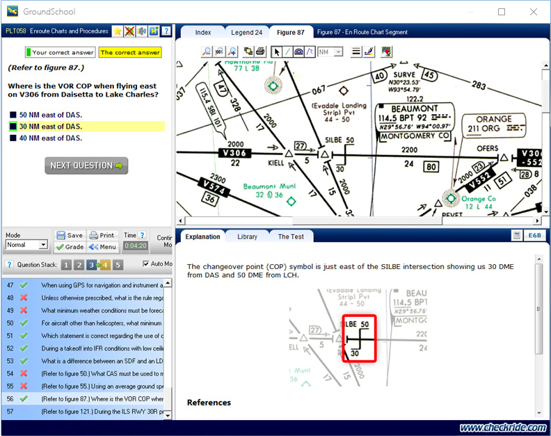 GroundSchool IFR (Instrument Rating) Test Screen Screenshot