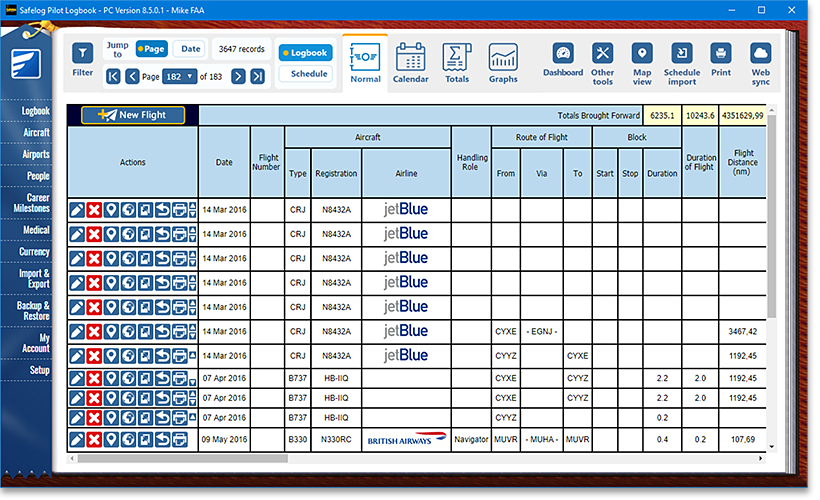 Safelog faa and easa pilot logbook system easy to use maxwellsz