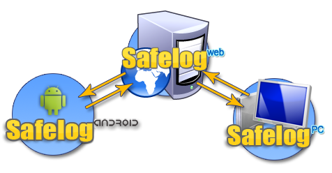 Safelog Network synchronization diagram