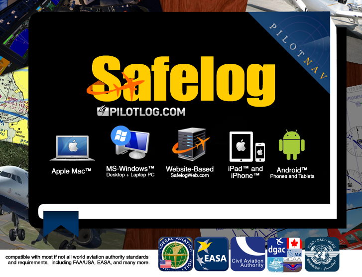 Safelog FAA and EASA CAA/JAA Logbook
