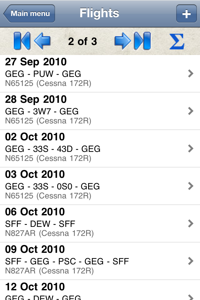 Safelog Pilot Logbook iPhone/iPad Screenshot 2