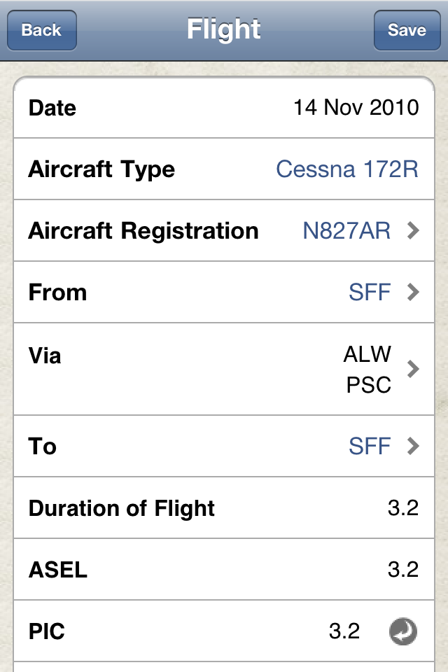 Safelog Pilot Logbook iPhone/iPad Screenshot 9