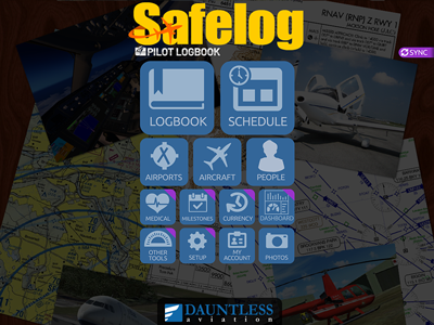 Safelog Pilot Logbook iPhone/iPad Screenshot 1