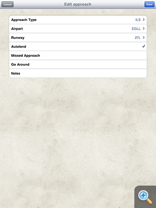 Safelog Pilot Logbook iPhone/iPad Screenshot 7
