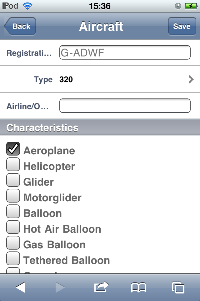 Safelog Pilot Logbook iPhone/iPad Web Portal Screenshot 18