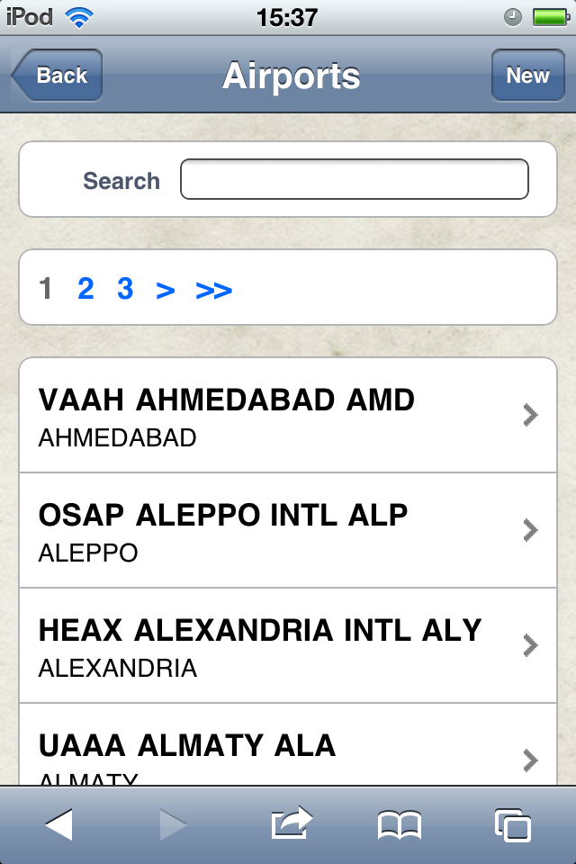 Safelog Pilot Logbook iPhone/iPad Web Portal Screenshot 20