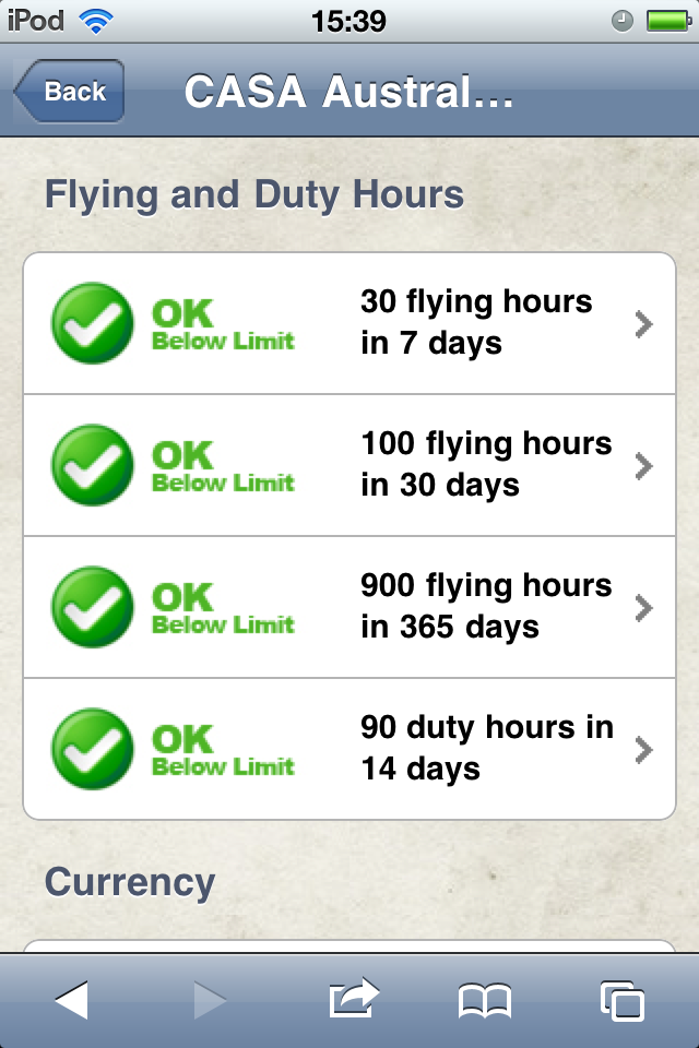 Safelog Pilot Logbook iPhone/iPad Web Portal Screenshot 23