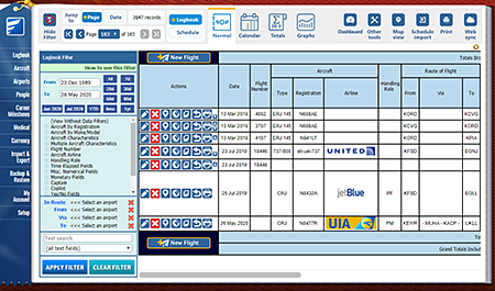 Safelog Pilot Logbook Mac Screenshot 3