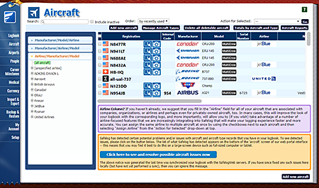 Safelog Pilot Logbook Mac Screenshot 4