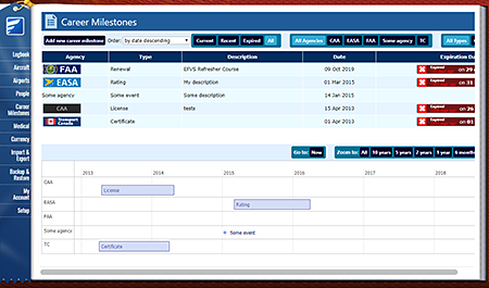 Safelog Pilot Logbook Mac Screenshot 8