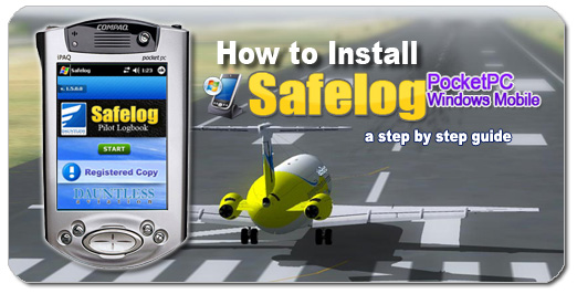 How to Install Safelog for PocketPC