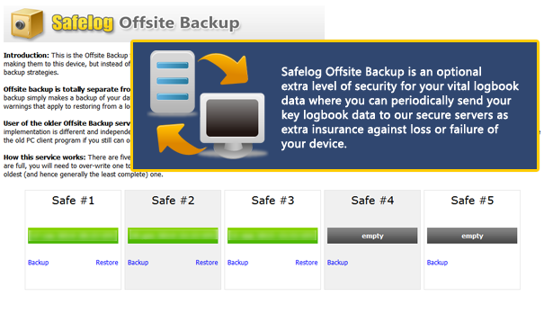 Safelog Offsite Backup