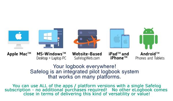 Safelog FAA and EASA Pilot Logbook System
