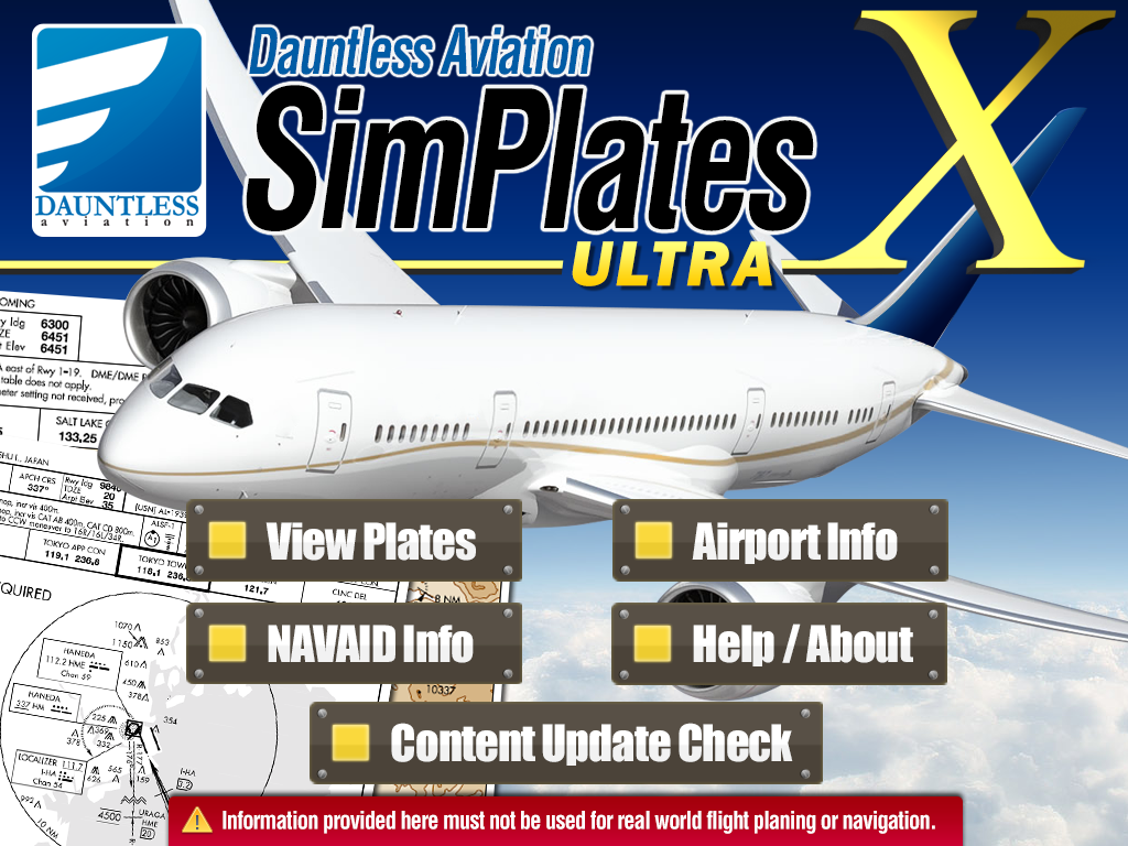 SimPlates Ultra incldues Approach Plates for El Calafate