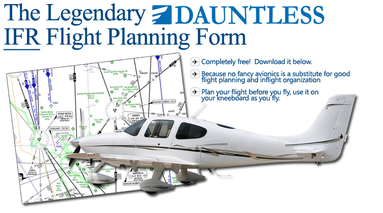 IFR Flight Planning Form – Flight Plan Template