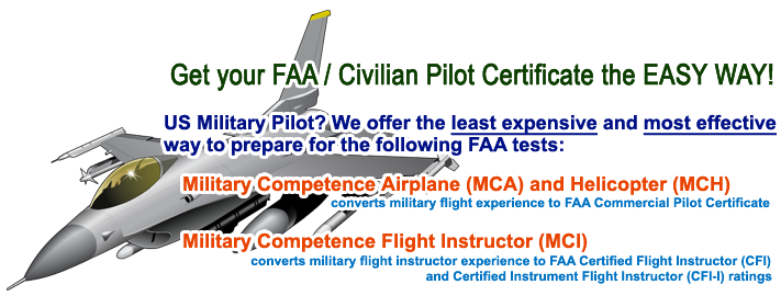 FAA Written Test Preparation Military Competence Airplane ...