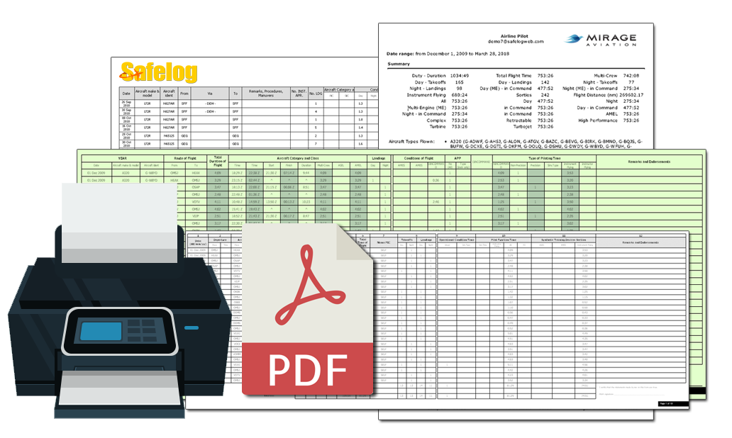 Safelog Printing Capabilities